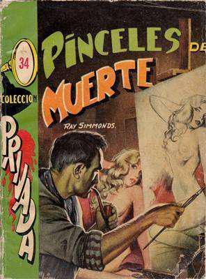 Libro: pinceles de muerte, de ray simmonds [novela de