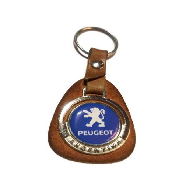 Llavero peugeot cuero metal 308 408 partner usado llaves