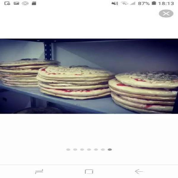 Pizzas caseras para hornear!!!media masa,de muzzarella,