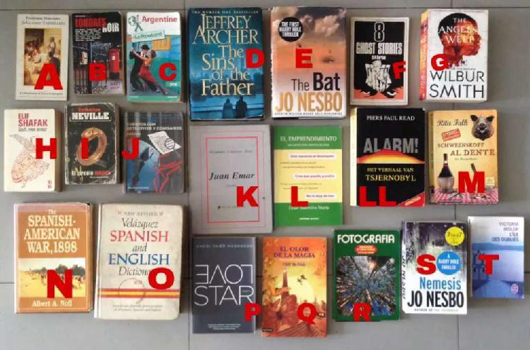 Lote libros usados