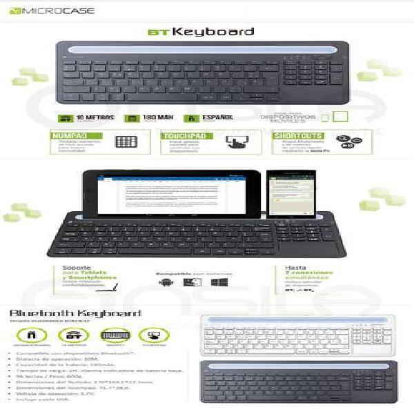 Microcase keyboard teclado bluetooth cm 1675bt blanco