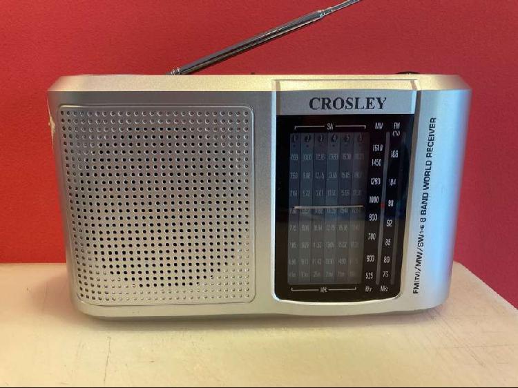 Radio receptor crosley am / fm con 6 bandas de onda corta