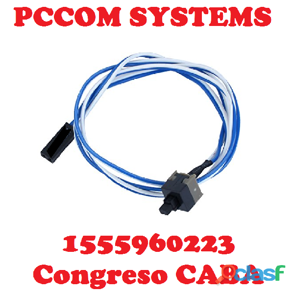 Pulsador Power O Reset Para Gabinete Atx Con Cable A Mother CABA