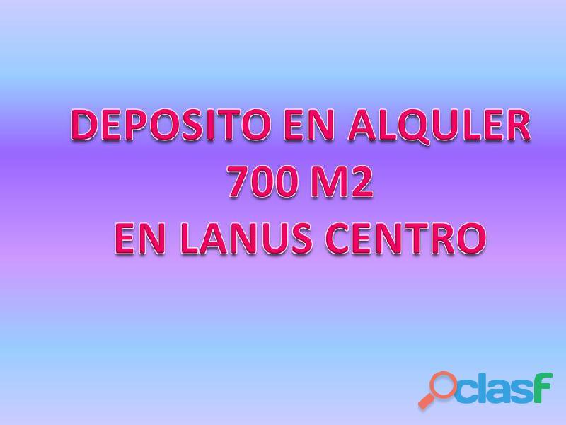 ALQUILO DEPÓSITO EN PLENO CENTRO DE LANUS