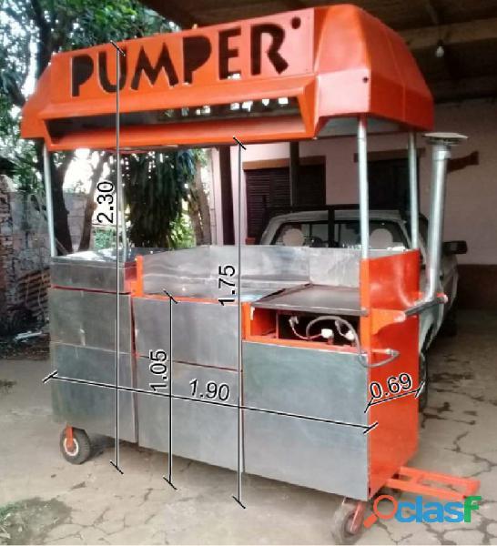 Vendo carrito hamburguesero con panchera (medidas en foto)