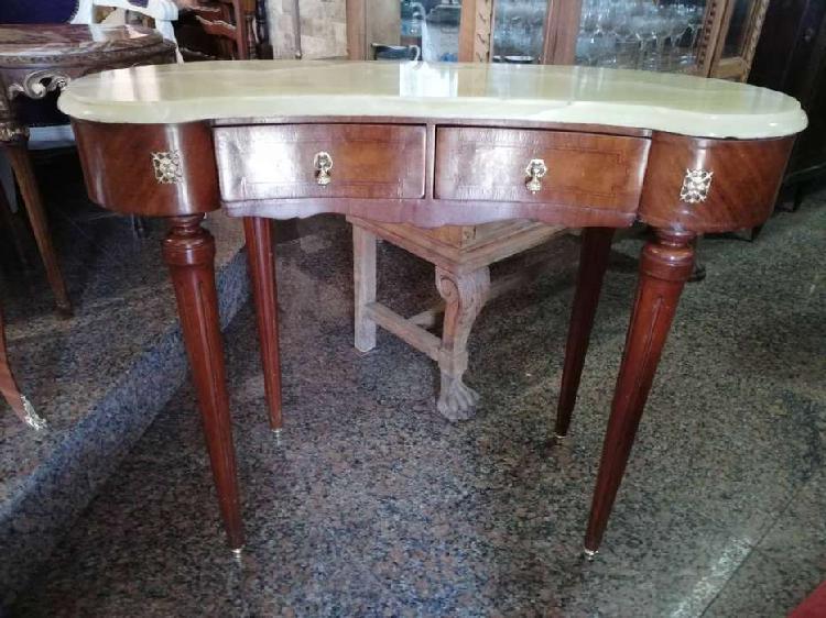 Antigua consola dressoire francés luis xvi con mármol