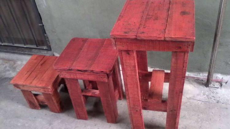 Banquillo de madera rustica de varias medidas