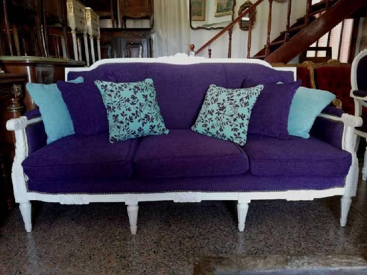 Importante sillón de 3 cuerpos estilo francés luis xvi
