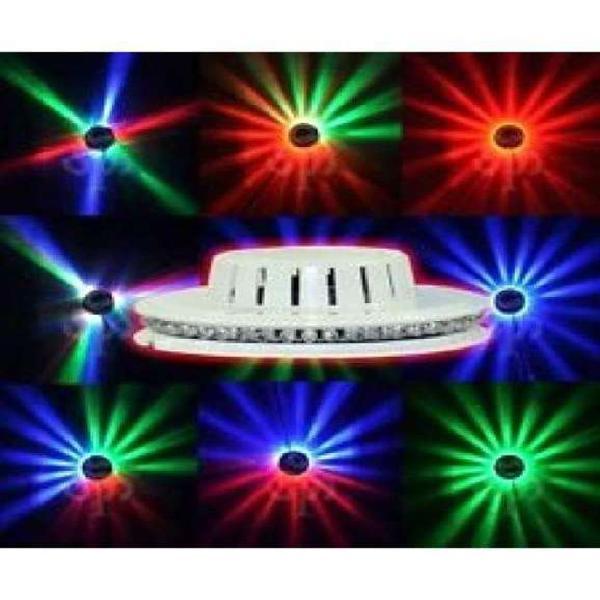 Luces led ovni giratorio disco.