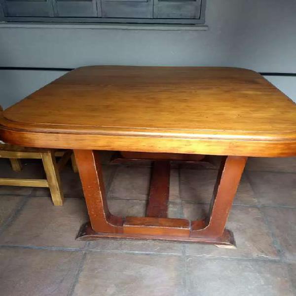 Mesa tipo pata moño antigua madera maciza