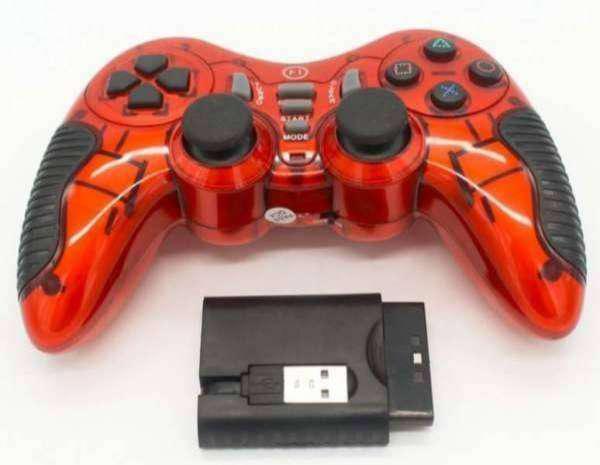 Joystick pc windows playstation ps2 ps3 inalambrico batería