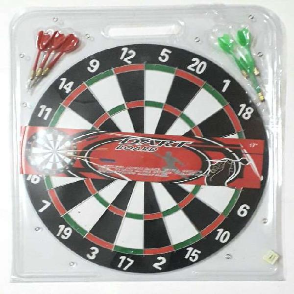 Blanco o diana reversible 17 pulgadas dart board con 6