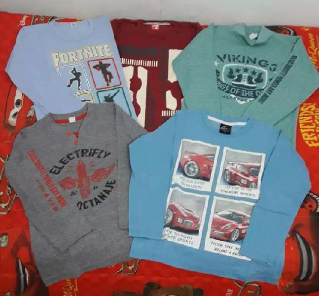 Combo de 5 camisetas de nene (usadas)