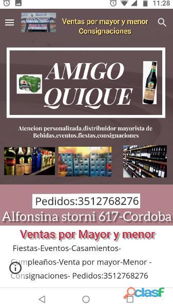 Amigo quique 3512768276 delivery de bebidas en cofico
