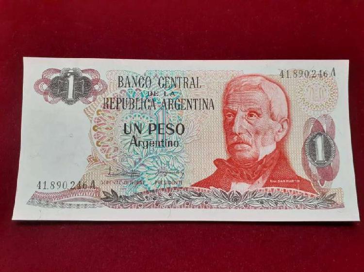 Billete un peso argentino antiguo