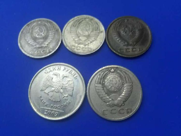 Lote monedas de rusia.