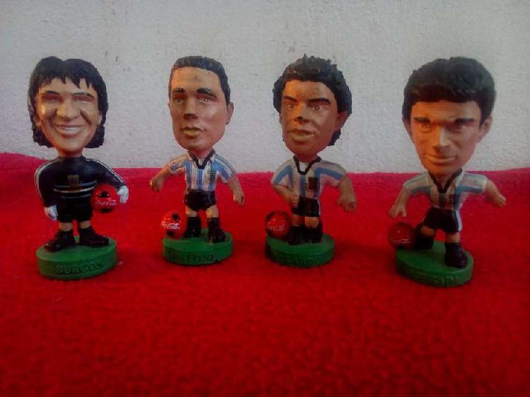 Muñecos coca cola cabezones seleccion futbol