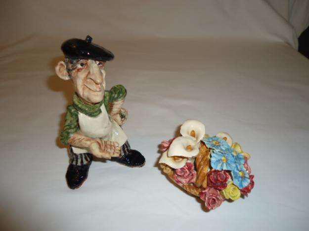 Escultura cerámica pieza única colección aldo caponi 1980