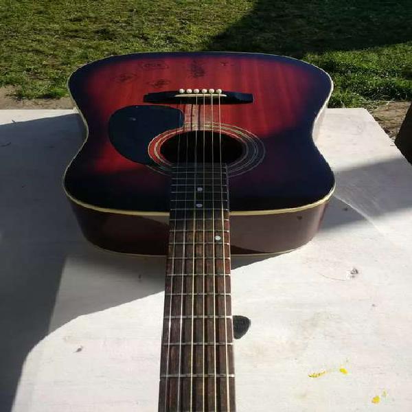 Guitarra acústica hideshi & piano eléctrico casio