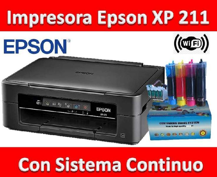 Impresora epson xp 211 c/ sistema continuo