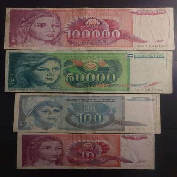 Lote billetes de yugoslavia, oferta!