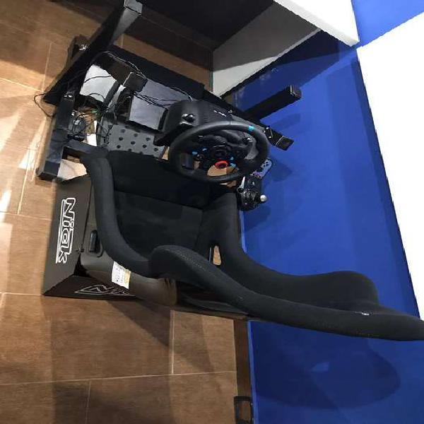 Simulador, volante logitech g29 + esteuctura + butaca nick