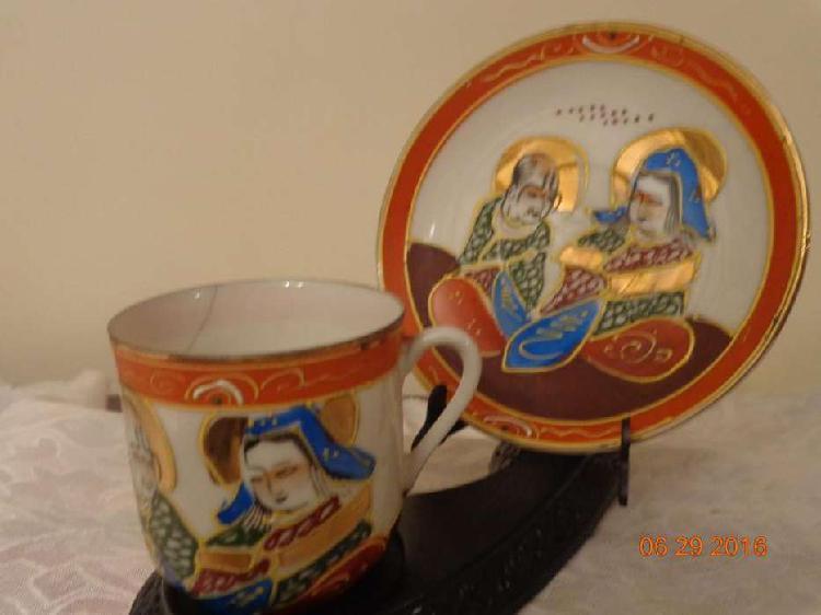 Distinto a otros : bello juego de taza cafe y plato satsuma