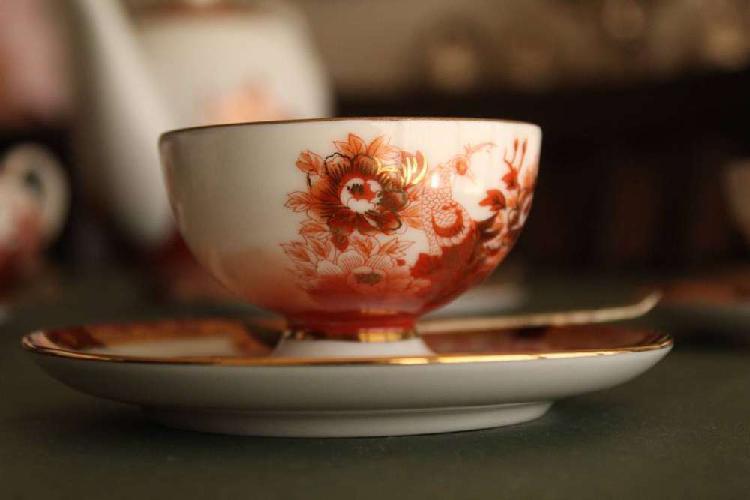 Juego de té porcelana tsuji sin uso 1930