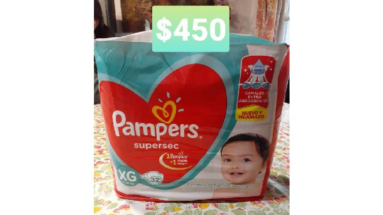 Pañales pampers supersec