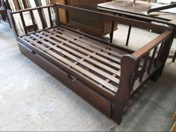 Divan cama sillon con cama carrito abajo moderno madera dura