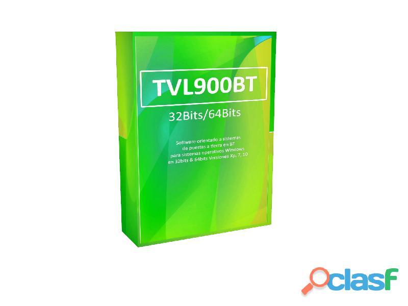Software tvl900bt o.mallas a tierra con licencia legal 1 año