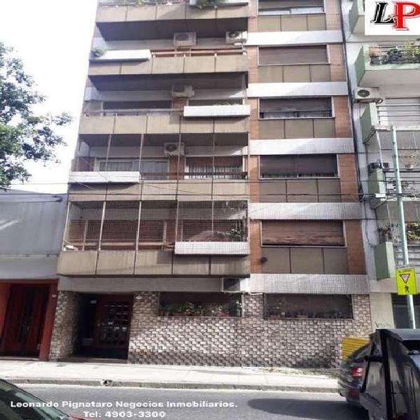 Depto 3 amb al frente con balcon 3 c. subte b y mts plaza