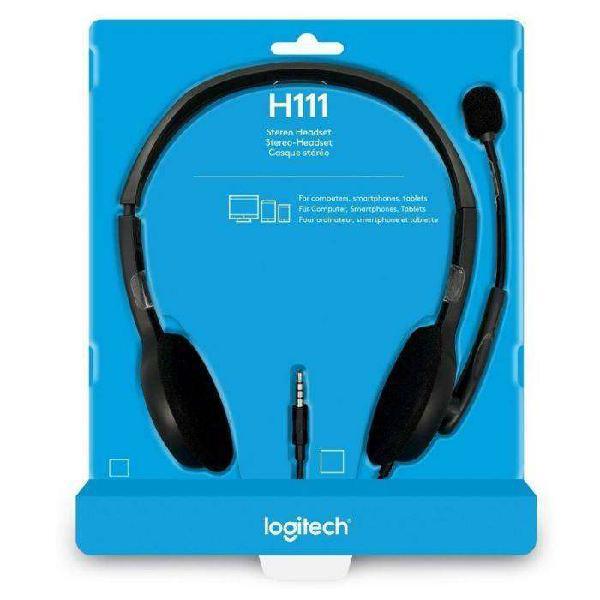 En la plata. headset stereo logitech h111 con microfono.