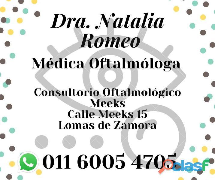 Oftalmóloga dra. natalia romeo