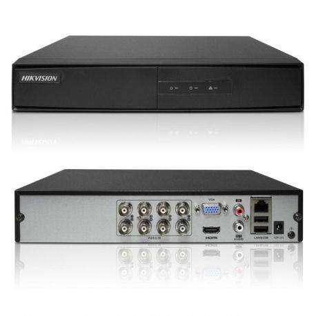 Dvr 8 canales 720p hikvision + 2ip ds-7208hghi-f1/