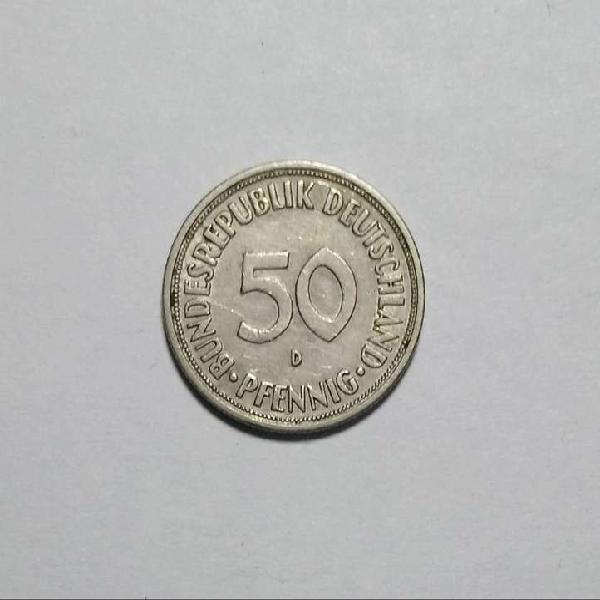 Moneda 50 pfennig 1969 alemania