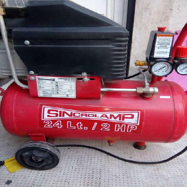 Compresor de aire 24l 2 hp