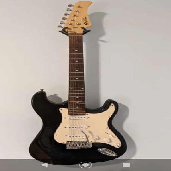 Guitarra electrica hallen con amplificador