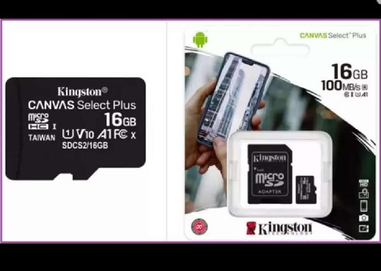 Memorias micro sdhc 16 gb kingston