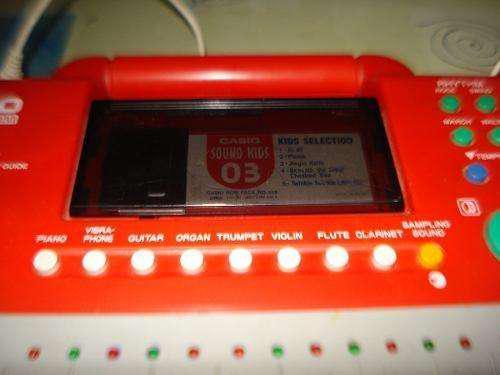 Teclado casio sound kids 03 para niños funcionando