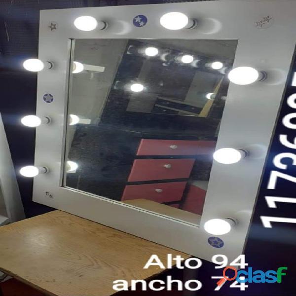 Espejo Maquillaje Estilo Hollywood Vestidor 8 Focos Luces Envíos Gratis