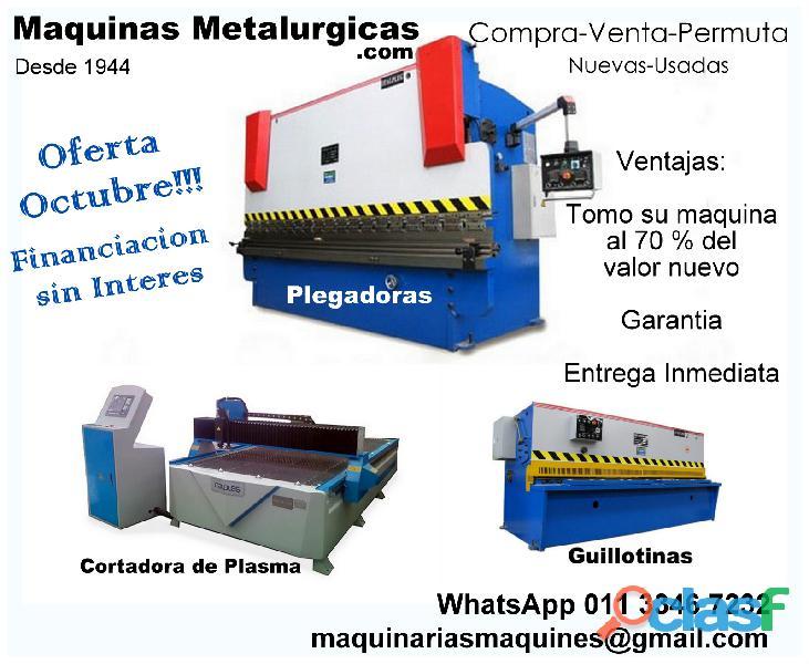 Plegadoras/Guillotinas/Cortadoras de Plasma