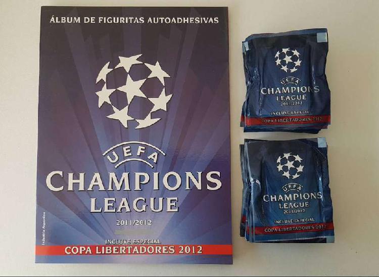 Album u e f a champions league 2011/12 + 100 sobres cerrados