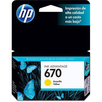 Cartucho HP 670-Amarillo