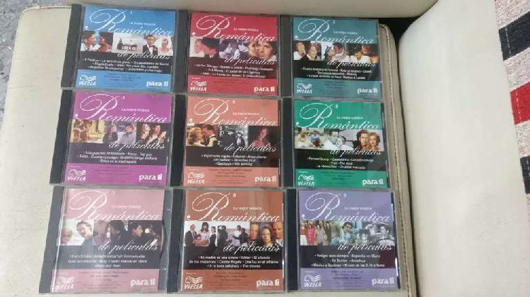 Lote cds colección la mejor música romántica de