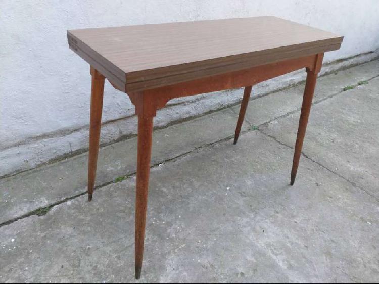 Mesa libro madera maciza impecable estado .. abierta 1 x 1x