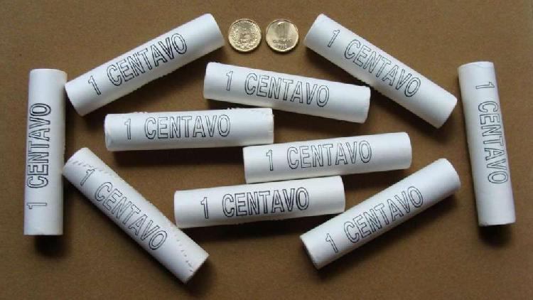 Monedas de 1 centavo argentina 1992 en tubos