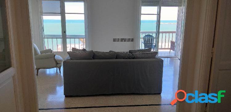 Piso de 3 ambientes c/ escritorio - playa grande - vista al mar -