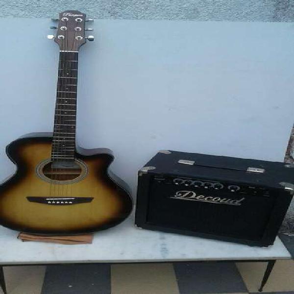 Guitarra Electroacústica Y Amplificador