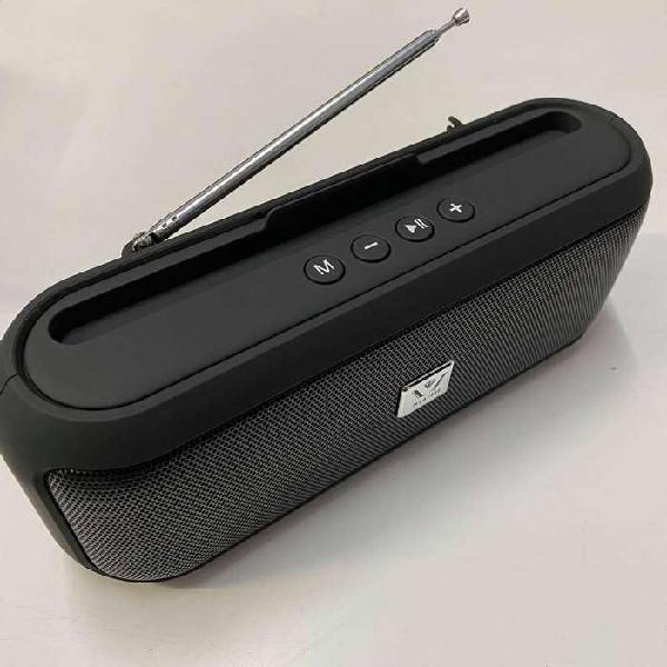 Parlante portatil bluetooth c/ radio fm 10w bateria